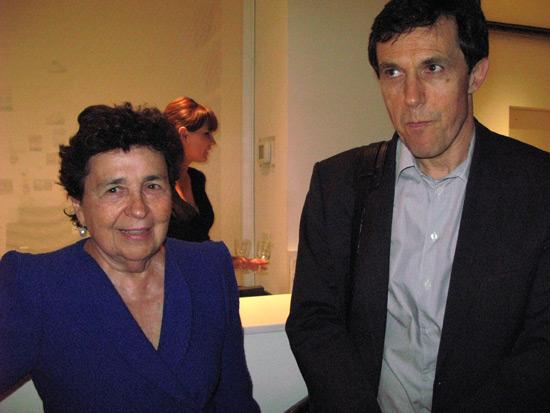 Marian Goodman and friend at Marian Goodman